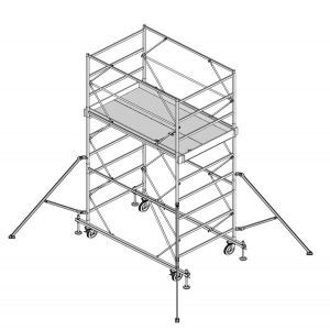 Mobile scaffolding